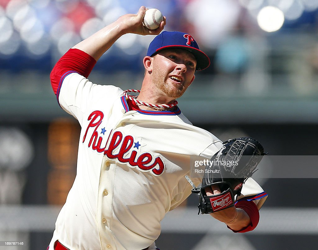 Pitcher Tyler Cloyd #50 of the Philadelphia Phillies delivers a pitch against the Milwaukee Brewers in a MLB baseball game on June 1, 2013 at Citizens Bank Park in Philadelphia, Pennsylvania.