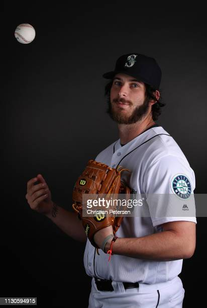 Pitcher Tyler Danish of the Seattle Mariners poses for a portrait during photo day at Peoria Stadium on February 18 2019 in Peoria Arizona