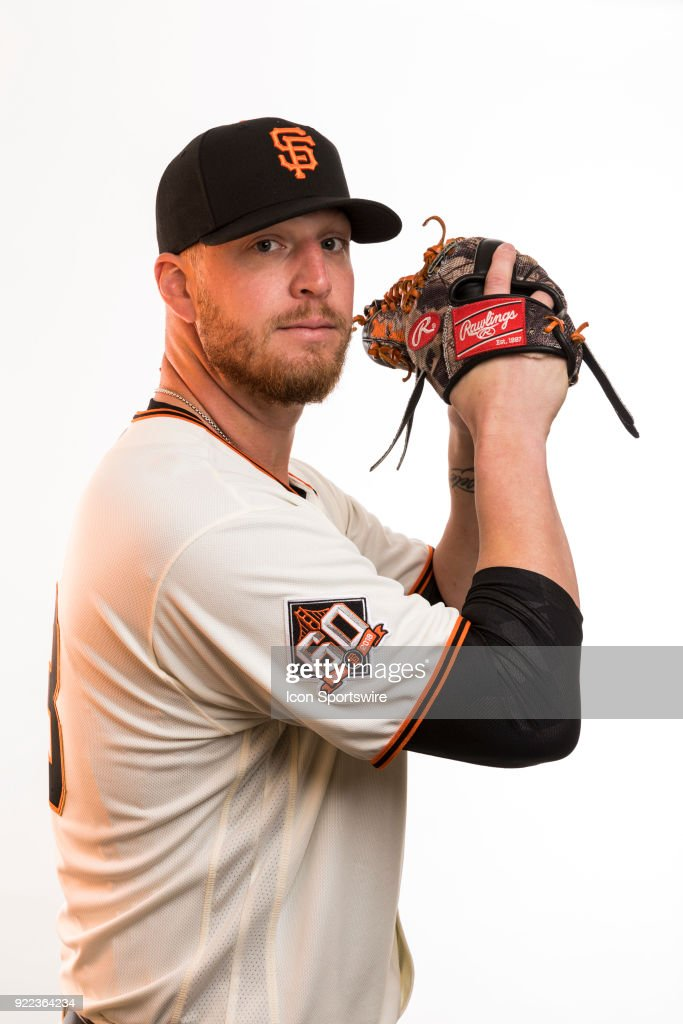 Pitcher Will Smith (13) poses for a photo during the San Francisco Giants photo day on Tuesday, Feb. 20, 2018 at Scottsdale Stadium in Scottsdale, Ariz.