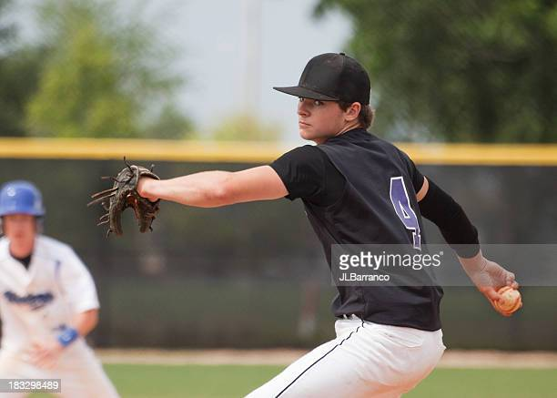 pitcher with determination - baseball pitcher stock photos and pictures