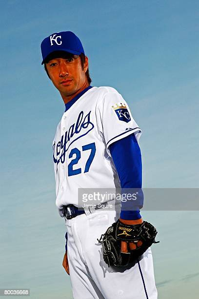 Pitcher Yasuhiko Yabuta of the Kansas City Royals poses for a portrait during spring training on February 25 2008 at Suprise Stadium in Surprise...