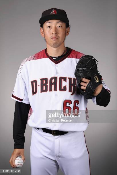 Pitcher Yoshihisa Hirano of the Arizona Diamondbacks poses for a portrait during photo day at Salt River Fields at Talking Stick on February 20 2019...