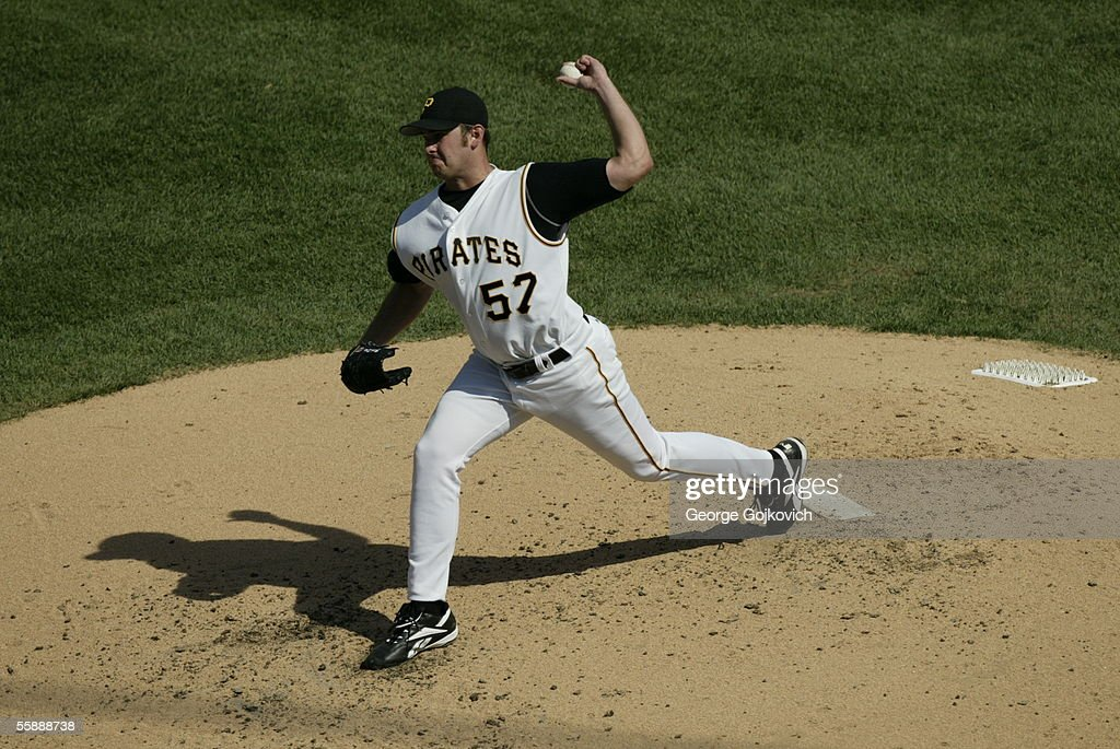 Pitcher Zach Duke #57 of the Pittsburgh Pirates pitches against the Houston Astros at PNC Park on September 22, 2005 in Pittsburgh, Pennsylvania. The Astros defeated the Pirates 2-1.