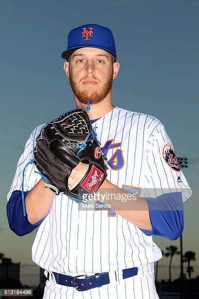 Pitcher Zack Wheeler poses for photos during media day at Traditions Field on March 1 2016 in Port St Lucie Florida