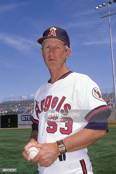 Pitching coach Marcel Lachemann of the California Angels poses for a photo during spring training in 1990
