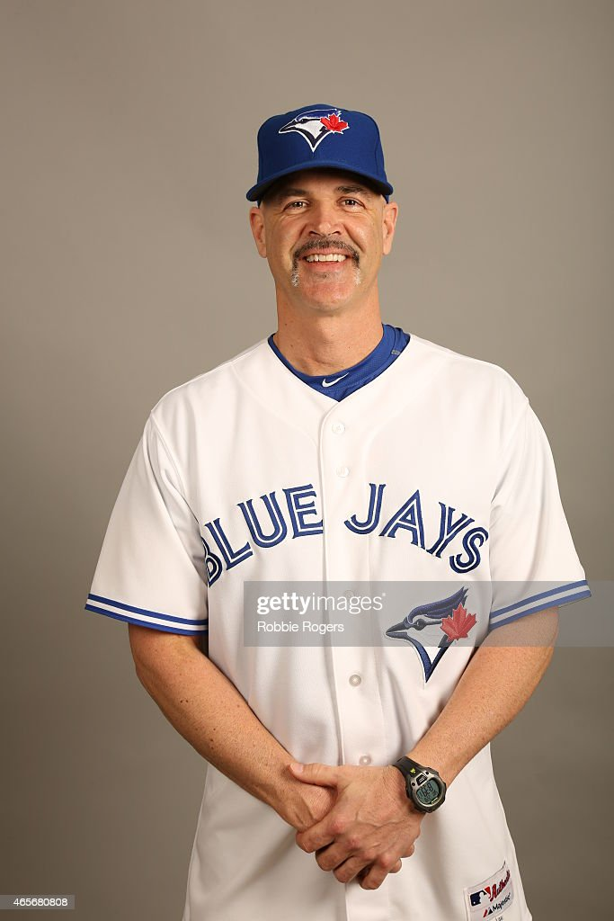Pitching coach Pete Walker #40 of the Toronto Blue Jays poses during Photo Day on Saturday, February 28, 2015 at Florida Auto Exchange Stadium in Dunedin, Florida.