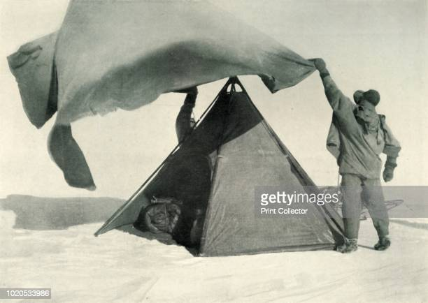 Pitching the Double Tent on the Summit' circa 1911 Petty officer Edgar Evans and Dr Edward Wilson died with Scott on the way back from the Pole The...