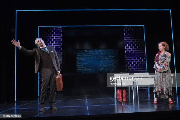 Piter Marek as Professor Burgess left and Betsy Aidem as Professor Carroway in The Love Course It's part of Final Follies three oneact plays by A R...