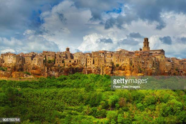pitigliano in grosseto province, tuscany, italy - grosseto province stock photos and pictures