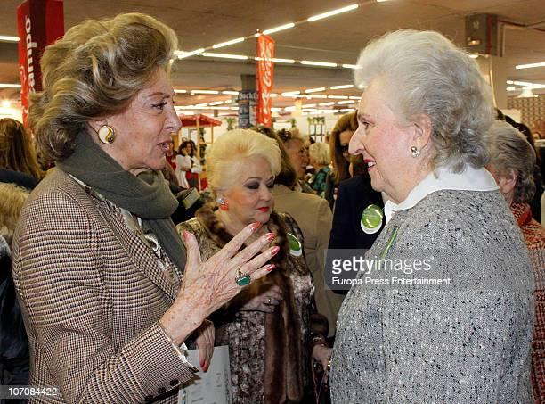 Pitita Ridruejo Cuqui Fierro and Infanta Pilar de Borbon King Juan Carlos' sister attend 'Rastrillo Nuevo Futuro' at La Pipa in Casa de Campo on...