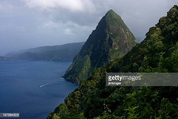 Pitons of St. Lucia.