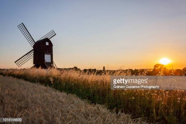 pitstone windmill - buckinghamshire stock pictures, royalty-free photos & images