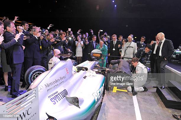 Pitstop at the IWC Schaffhausen Race Night event during the Salon International de la Haute Horlogerie 2013 at Palexpo on January 22, 2013 in Geneva,...