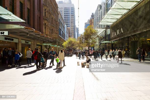 Pitt Street Sydney Australia, background with copy space