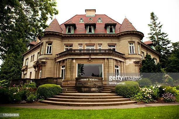 pittock mansion - mansion stock pictures, royalty-free photos & images