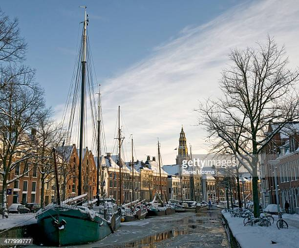 pittoresque winter world - groningen province stock photos and pictures