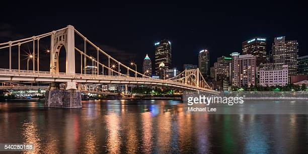 Pittsburgh and Warhol Bridge at Night