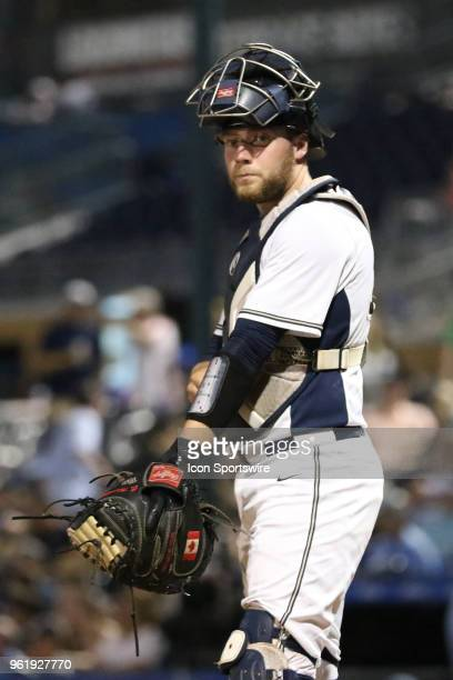 Pittsburgh catcher Cole MacLaren during the ACC Baseball Championship game between the North Carolina Tar Heels and Pittsburgh Panthers and the on...