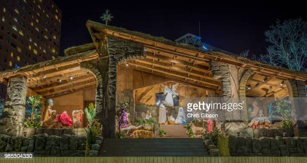 pittsburgh creche, pittsburgh, pa - nativity scene stock pictures, royalty-free photos & images