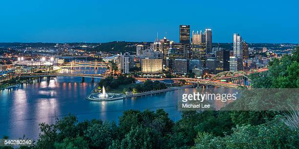 Pittsburgh Golden Triangle Twilight View