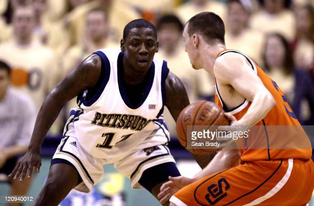 Pittsburgh guard Carl Krauser defends against Syracuse guard Gerry McNamara Pittsburgh defeated Syracuse 7669 at the Petersen Events Center in...