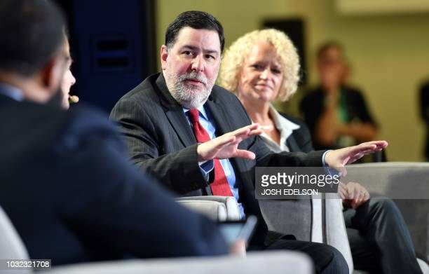 Pittsburgh Mayor Bill Peduto speaks during a panel discussion at the C40 Cities For Climate The Future Is Us kickoff event at San Francisco's City...