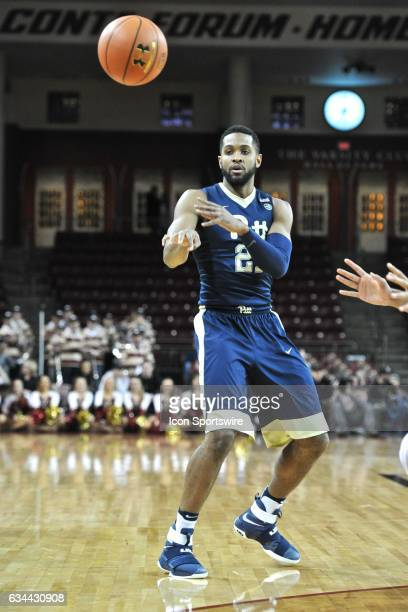 Pittsburgh Panthers forward Sheldon Jeter passes the ball off to an open teammate During the Pittsburgh Panthers game against the Boston College...