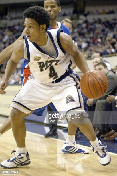 Pittsburgh Panthers Ronald Ramon in action against DePaul at the Petersen Events Center on January 12, 2006 in Pittsburgh, Pennsylvania.