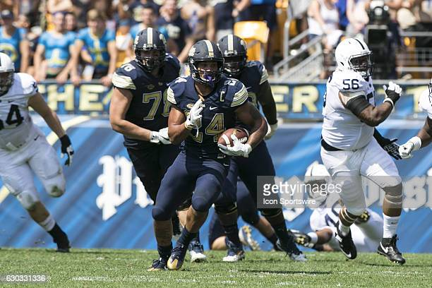 Pittsburgh Panthers Running Back James Conner during the NCAA Football game between the Penn State Nittany Lions and Pittsburgh Panthers at Heinz...