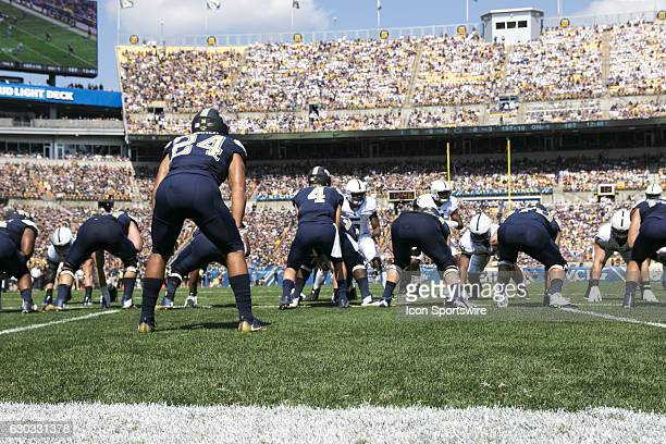 Pittsburgh Panthers running back James Conner is lined up in his own end zone during the NCAA Football game between the Penn State Nittany Lions and...