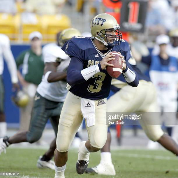 Pittsburgh Panthers' Tyler Palko in action against South Florida at Heinz Field in Pittsburgh Pennsylvania on October 15 2005