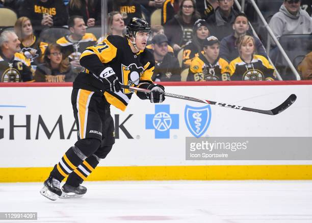 Pittsburgh Penguins Center Evgeni Malkin skates during the first period in the NHL game between the Pittsburgh Penguins and the Boston Bruins on...