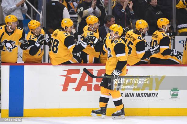 cd491a9b187 Pittsburgh Penguins Center Sidney Crosby celebrates his goal with the...  News Photo - Getty Images