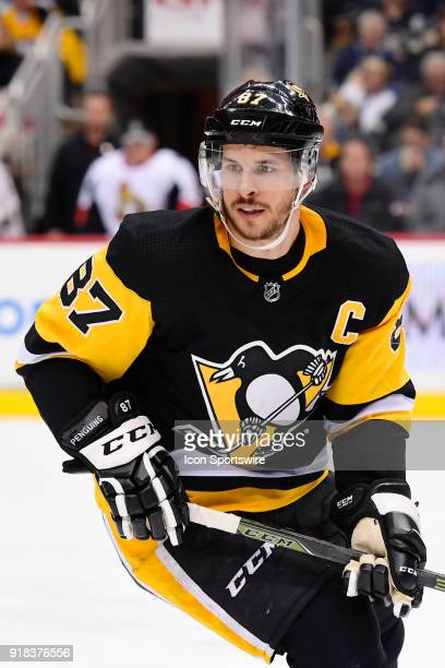 Pittsburgh Penguins Center Sidney Crosby skates during the third period in the NHL game between the Pittsburgh Penguins and the Ottawa Senators on...