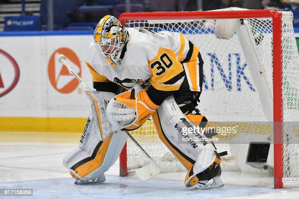 Pittsburgh Penguins goalie Matt Murray during a NHL game between the Pittsburgh Penguins and the St Louis Blues on February 11 at Scottrade Center St...