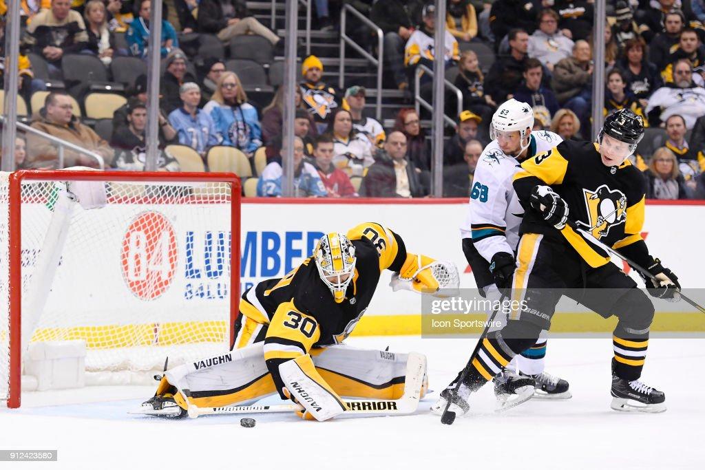 NHL: JAN 30 Sharks at Penguins : News Photo