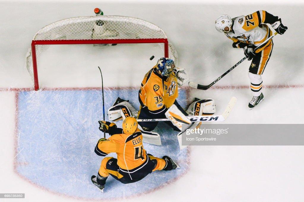 NHL: JUN 11 Stanley Cup Finals Game 6 -  Penguins at Predators : News Photo