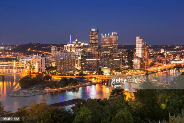 Pittsburgh Pennsylvania USA Skyline at night