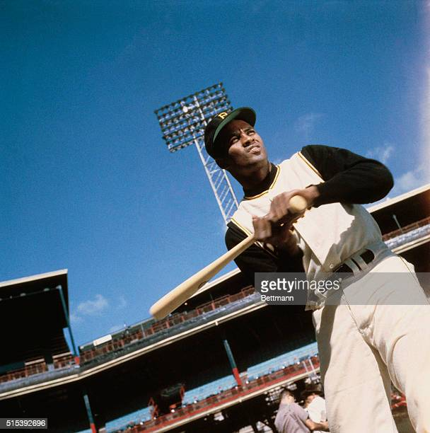Pittsburgh Pirate Roberto Clemente in Batting Pose