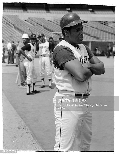 Pittsburgh Pirates baseball player Willie Stargell on field at Three Rivers Stadium Pittsburgh Pennsylvania July 1970