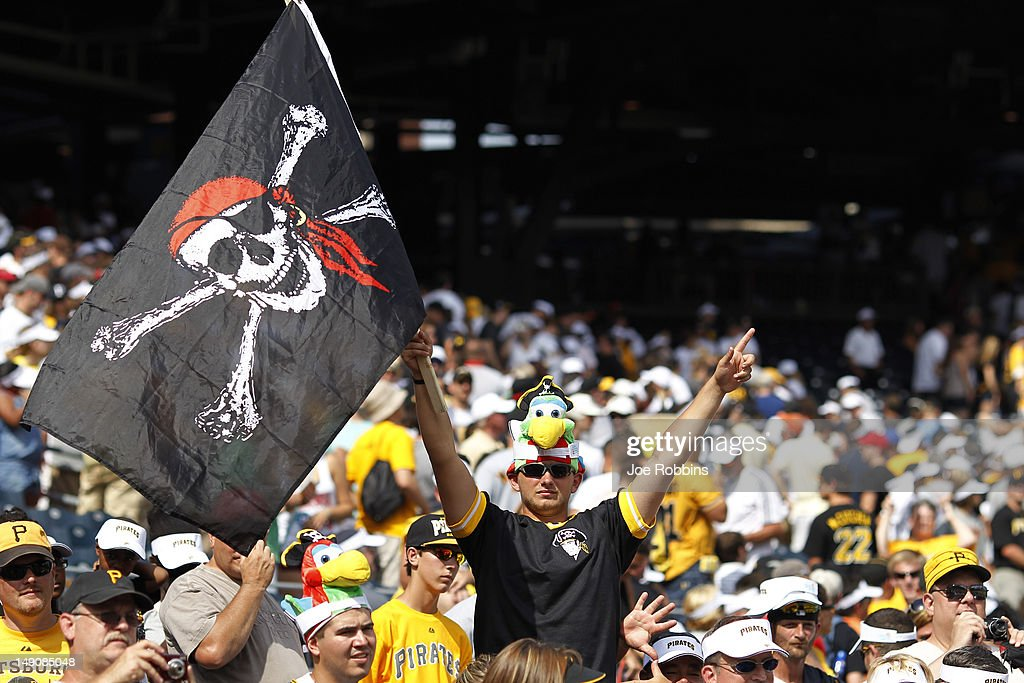 Pittsburgh Pirates fans celebrate after the game against the Miami Marlins at PNC Park on July 22, 2012 in Pittsburgh, Pennsylvania. The Pirates won 3-0.