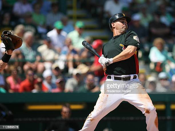 Pittsburgh Pirates' Jack Wilson reacts to a close pitch during Monday's game against the Toronto Blue Jays on March 17 at McKechnie Field in...