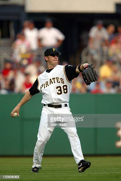 Pittsburgh Pirates Jason Bay in action against the Milwaukee Brewers on July 3 2004 at PNC Park in Pittsburgh Pennsylvania