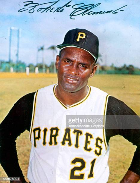 Pittsburgh Pirates outfielder Roberto Clemente stops for a photograph at spring training in 1964 in Ft Myers Forida