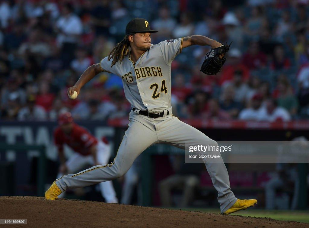 MLB: AUG 14 Pirates at Angels : News Photo