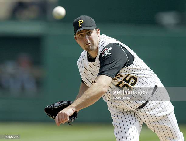 Pittsburgh Pirates pitcher Mark Redman in action against the Chicago Cubs at PNC Park in Pittsburgh, Pennsylvania on April 17, 2005.