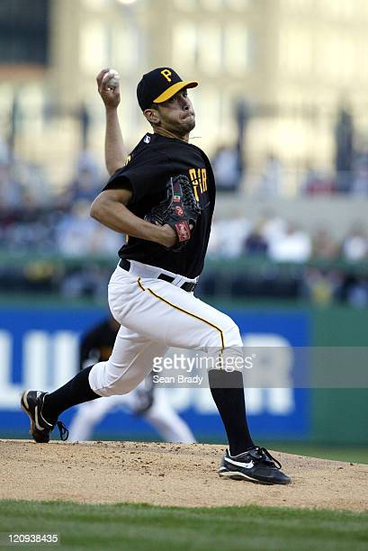 Pittsburgh Pirates pitcher Oliver Perez in action against the Chicago Cubs at PNC Park in Pittsburgh Pennsylvania on April 15 2005