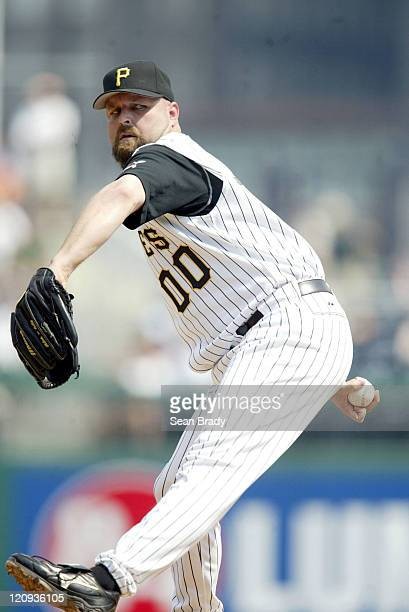 Pittsburgh Pirates pitcher Rick White in action against the Atlanta Braves on June 5 2005 at PNC Park in Pittsburgh Pennsylvania