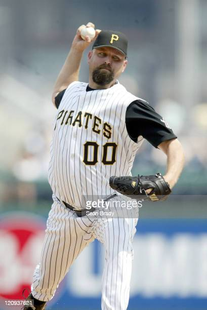 Pittsburgh Pirates' pitcher Rick White in action against the Atlanta Braves on June 5 2005 at PNC Park in Pittsburgh Pennsylvania