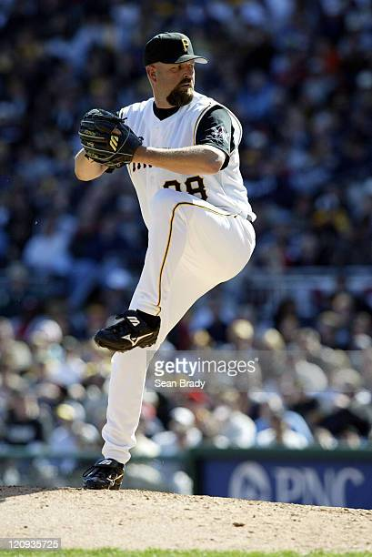 Pittsburgh Pirates pitcher Rick White in action against the Milwaukee Brewers at PNC Park on April 4 2005 in Pittsburgh Pennsylvania